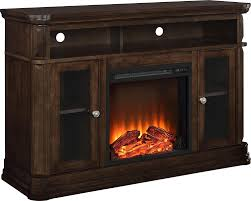 com ameriwood home brooklyn electric fireplace tv console for tvs up to 50 espresso kitchen dining