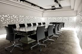 office meeting room design. Interior, Amazing Office Meeting Room Design With Contemporary Large Conference Table In Black Glass Top And Modern Chairs Also White Wall I