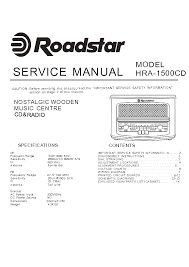 roadstar hra 1500cd sm service manual schematics roadstar hra 1500cd sm service manual schematics eeprom repair info for electronics