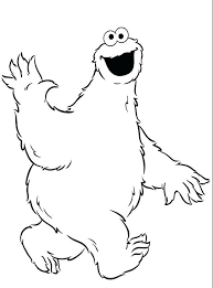 Collection Of Cookie Monster Coloring Page Download Them And Try Odd