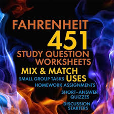 fahrenheit 451 mix match worksheets discussion hw for ray bradbury s novel