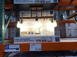 costco 1043961 6light led chandelier by design solutions