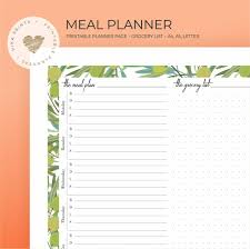Weekly Meal Planner Printable ($3) | Printable Meal-Planning Sheets ...