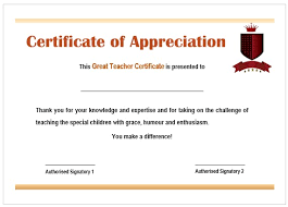Teacher Appreciation Certificate Wording Drabble Info