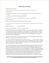 Daycare Contract Template Free Child Care Contract Template Hashdoc Daycare Contract