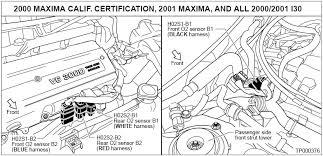 1999 2001 nissan maxima o2 sensor identification and location O2 Sensor Wiring Color Codes at 2000 Quest 02 Sensor Wiring Diagram