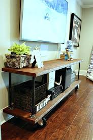 diy rustic tv stand perfect for under the big screen industrial build from diy rustic farmhouse diy rustic tv stand