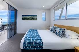 Coco Mooloolaba Apartments: A Lovely View From Our Bedrooms In One Bedroom  Partial Ocean View