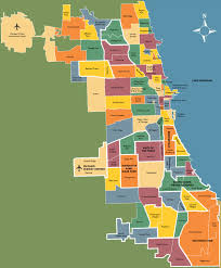 chicago neighborhoods map  skinny tie chuck travel