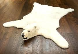 fake bear skin rug with head image of polar faux bearskin uk he