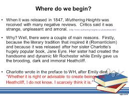 wuthering heights by emily bronte introduction and context ppt 2 where