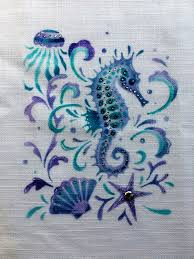 Pink Ink Designs Stencils Pink Ink Design Stencil Seahorse Card Making Craft Supplies