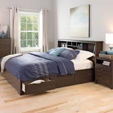 Prepac Bedroom Furniture Prepac Fremont King Wood Storage Bed Ebk 8400 K The Home Depot