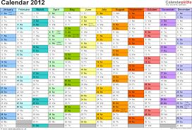Excel Calendar 2012 Uk 11 Printable Templates Xlsx Free