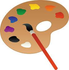 Coloriage Palette Peinture Imprimer