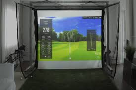 a on on the included wireless remote and in less than thirty seconds you ll convert any room to and from a virtual golf practice environment