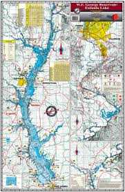 Eufaula Lake Al Fishing Map Keith Map Service Inc