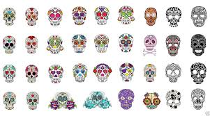 Amazon.com: Sugar Skull Nail Art Day of the Dead Decals Assortment ...