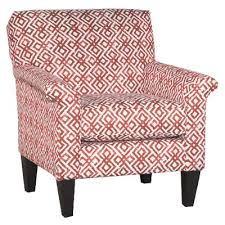 Casual Contemporary Red Diamond Pattern Accent Chair  Naomi  RC Contemporary Red Chair