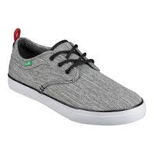 Mens Sanuk Guide Plus Sneaker Size 8 M Grey Space Dye Canvas