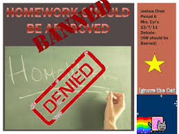 statistics why homework should be banned quot homework should act as a place where students practice the skills they    ve both professors at australian universities  do not call for a homework ban