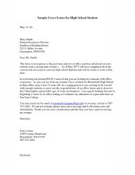 Student Cover Letter For Resume Cover Letter Examples for Students In High School Resume Cover 29
