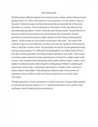 the commercial casino industry and the tribal government gaming  similar essays