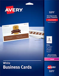 Avery 5371 Business Cards Avery Business Cards For Laser Printers 5371