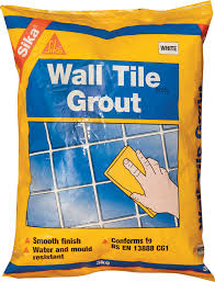 Grouting wall tile White Sikaceram Wall Tile Grout Everbuild Sikaceram Wall Tile Grout Everbuild