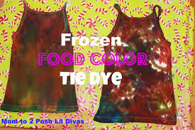diy tie dye shirt with food coloring