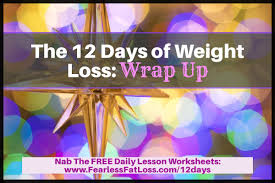Weight Loss Worksheets The 12 Days Of Weight Loss Wrap Up Free Weight Loss Tips