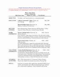 Icu Nurse Resume Best Of Graduate Nurse Resume Examples Examples Of