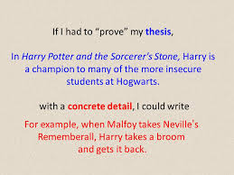 how to write an effective analysis paragraph harry potter  if i had to prove my thesis in harry potter and the sorcerer s stone
