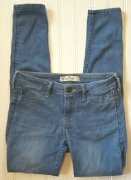 Details About Hollister Jean Leggings Jeggings Size Os W 24 L 27 Medium Wash Low Rise Stretch
