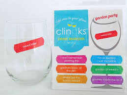 hilarious and sassy garden themed glass tags from clingks drink markers only 9 99 for a