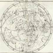 Star Charts For Southern Hemisphere Southern Hemisphere Star Chart Poster