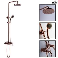 multifunction rose gold shower faucet wall mounted full copper rainfall shower head system with lifter three gear faucet ali xcbkq7