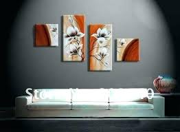 painting office walls. Home Office Wall Art Artwork For Walls Free Shipping Flower Oil Painting Abstract Orange Decoration