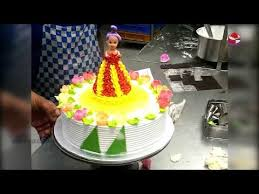 How To Make Birthday Barbie Cake Design