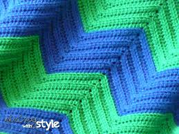 Double Crochet Chevron Pattern Fascinating String With Style Chevron Love Afghan