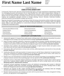 Executive Assistant Resume Amazing Executive Assistant Resume Sample Template
