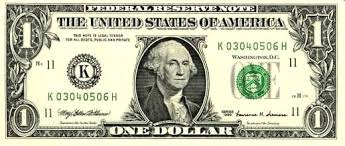 Image result for 1 dollar note america image