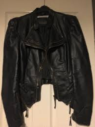 forever unique faux leather jacket size 10 as new