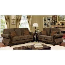 traditional living room furniture sets. Furniture Of America Telemen Traditional 3-piece Brown Upholstered Sofa Set Living Room Sets
