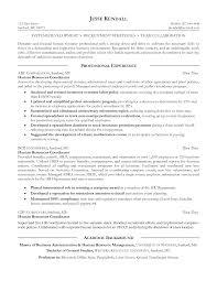 Human Resources Resume Template Word Sidemcicek Com