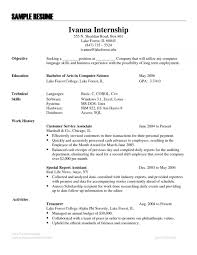 Resume Examples Language Skills