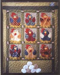 cute chickens! | quilt patterns | Pinterest | Chicken quilt ... & All Cooped Up Quilt Pattern - pattern 4 sale Adamdwight.com