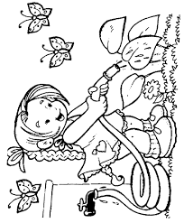 Flowers and Butterflies Spring Coloring Page - Free Coloring Pages ...
