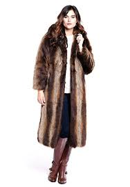 tanuki hooded full length faux fur coat 1