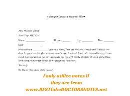 Doctor Excuse Letter Template Kazakia Info